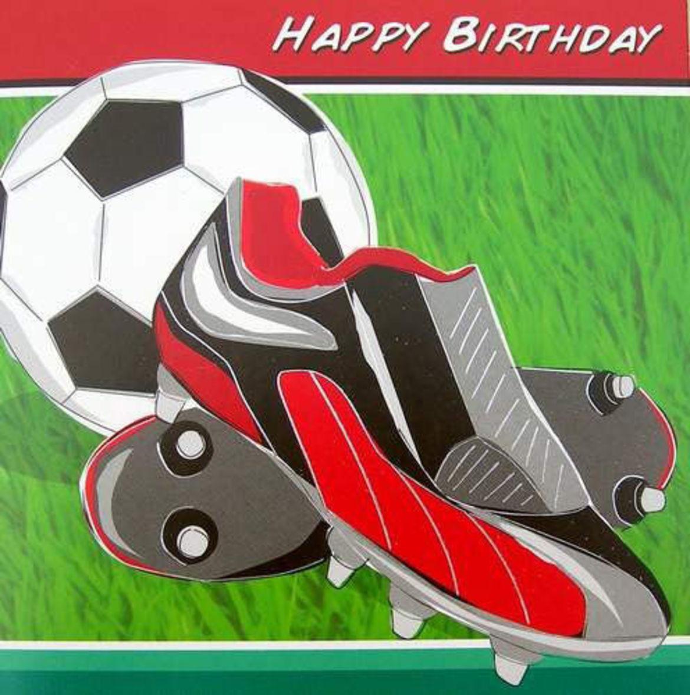 Футбольные открытки с Днем Рождения футболисту мальчику и 44