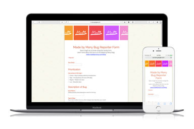 Supercharge your google form with google apps script made by many above our google form is conveniently and automatically mobile friendly i used the theme bunting under change theme centered my title and description maxwellsz